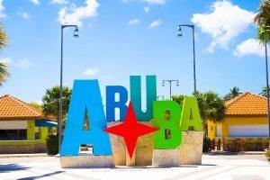 Aruba sign Oranjestad
